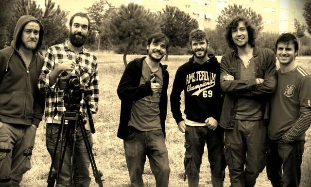 Foto fin de rodaje del cortometraje escrito por Héctor Melgares, Los meones (2013)