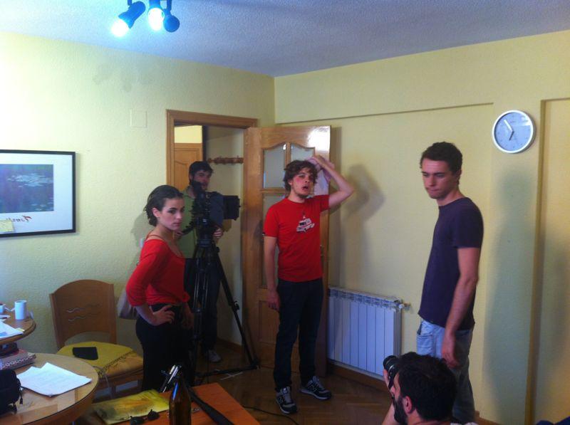 Grabando piloto De tres amigos (2012)